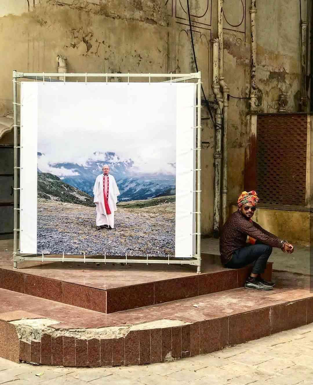 Nola Minolfi's exhibit at the Hawa Mahal Complex #JaipurPhoto
