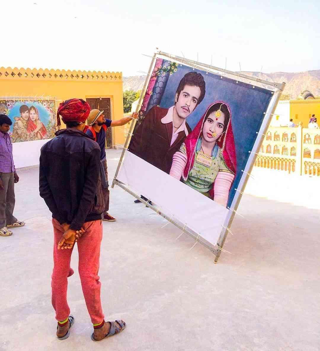 #JaipurPhoto installations in progress
