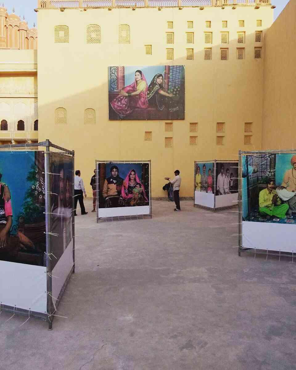 Mr. Chand's photographs at Hawa Mahal Complex #JaipurPhoto