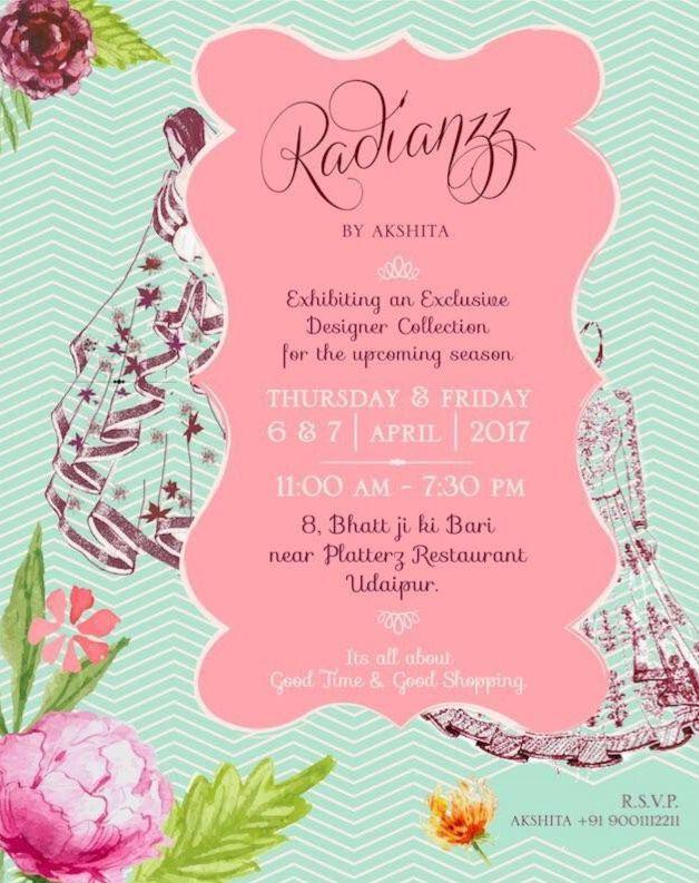 Radianzz by akshita a multi designer clothing exhibition stopboris Choice Image